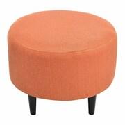 Sole Designs Sophia Round Ottoman; Candice Pumpkin