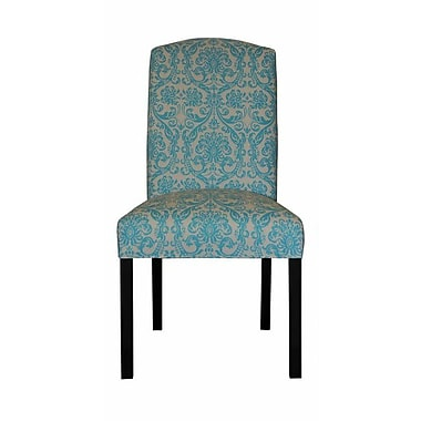 Sole Designs Abigail Side Chair; Mandarin Blue