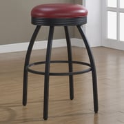 American Heritage Manhattan Swivel Bar Stool with Cushion; Red
