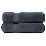 Pure Fiber Zero Twist Bath Towel (Set of 2); Grey