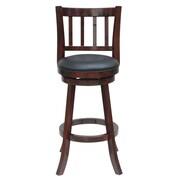 Boraam Bloomington 24'' Swivel Bar Stool with Cushion; Cherry