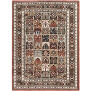 ECARPETGALLERY Copper/Dark Red Medallion Floral Rug