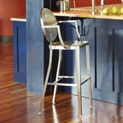 InnerSpace Luxury Products InnerSpace 30'' Bar Stool; Brushed Steel