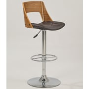 Chintaly Adjustable Height Bar Stool with Cushion