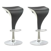 CorLiving Adjustable Height Swivel Bar Stool (Set of 2); Black / White