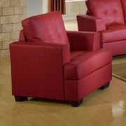 Beverly Fine Furniture Cecilia Lounge Chair; Red