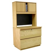 Rush Furniture Modular Real Oak Wood Veneer 2-Drawer  File Cabinet