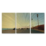 All My Walls 'California Road 16' by Relja Penezic 3 Piece Graphic Art Plaque Set