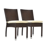 Bienal Stacking Dining Side Chair (Set of 2); Espresso