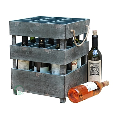 Quickway Imports 9 Bottle Tabletop Wine Rack
