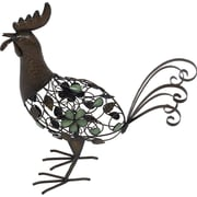 La Hacienda Glow in the Dark Beaded Strutting Rooster Statue