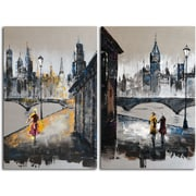 Omax Decor 'Love in Any Language' 2 Piece Painting on Canvas Set