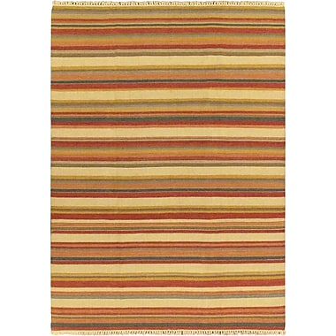 ECARPETGALLERY Kaleidoscope Cream Striped Outdoor Area Rug; 6'7'' x 9'2''