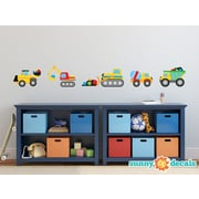 Sunny Decals Construction Trucks Fabric Wall Decal