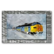 All My Walls 'Passing Trains' by Glen Frear Painting Print Plaque