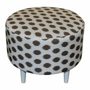 Sole Designs Sophia Jojo Round Ottoman; Jojo Brown