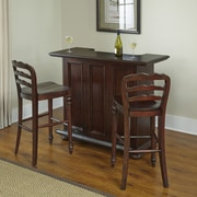 Home Styles Colonial Classic Bar Set with Wine Storage