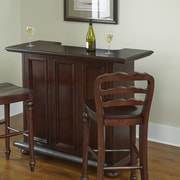 Home Styles Colonial Classic Bar with Wine Storage