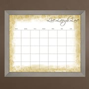 PTM Images Live Laugh Love Wall Mounted Calendar/Planner Whiteboard, 2' x 2'