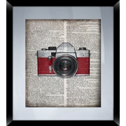 PTM Images Camera and Radio 2 Piece Framed Graphic Art Set