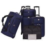 U.S. Traveler 5 Piece Functional Luggage Set; Navy