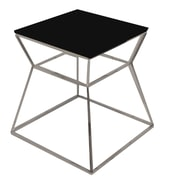 Pangea Home Prism End Table; Black