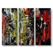 All My Walls 'Reset' by Newel Hunter 3 Piece Painting Print Plaque Set
