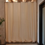 RoomDividersNow Tension Rod Room Divider Kit - For Rooms 96'' Tall & 66'' to 120'' Wide; Ivory