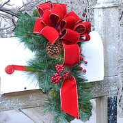 Floral Home Decor Holiday Mailbox Swag