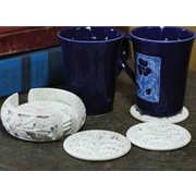 Novica Leaves Coasters Set