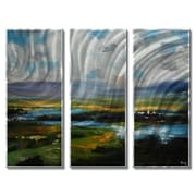 All My Walls 'Landscape' by Rosilyn Young 3 Piece Painting Print Plaque Set