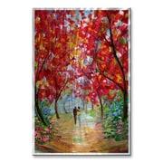 All My Walls 'Romance Landscape' by Karen Tarlton Painting Print Plaque