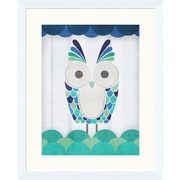 PTM Images Colorful Owls I Gicl e Framed Graphic Art