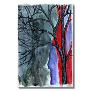 All My Walls 'Concrete Trees' by Tamera Tabor Painting Print Plaque