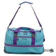 J World Stadium 21'' 2 Wheeled Carry-On Duffel; Seafoam