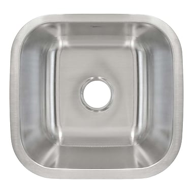 LessCare 18.13'' x 16.13'' Undermount Single Bowl Bar/Bar Sink