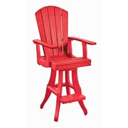 CR Plastic Products Generations 28'' Bar Stool; Red