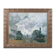 "Trademark Global Claude Monet 'Gare Saint-Lazare Arrival of a Train' Ornate Art, 16""L x 20""W, Framed (BL01181-G1620F)"