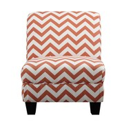 Handy Living Gina Slipper Chair; Orange