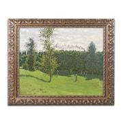 "Trademark Global Monet 'Train in the Country 1870-71' Ornate Framed Art, 16"" x 20"" (BL0173-G1620F)"