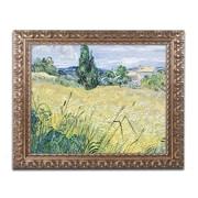 "Trademark Global van Gogh 'Landscape with Green Corn 1889' 16"" x 20"" Ornate Framed Art (BL0299-G1620F)"