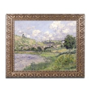"""Trademark Global Monet 'Landscape Vetheuil 1879' 16"""" x 20"""" Ornate Framed Art (BL0757-G1620F)"""