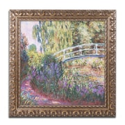 "Trademark Global Monet 'The Japanese Bridge IV' Ornate Art, 16""L x 16""W, Framed (BL0949-G1616F)"