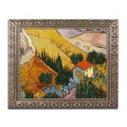 "Trademark Global van Gogh 'Landscape with House' 16"" x 20"" Ornate Framed Art (BL0957-G1620F)"