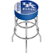 "Trademark Global University of Kentucky Chrome Bar Stool with Swivel, Text, 31"" (KY1000-TXT)"