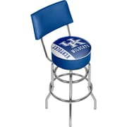 "University of Kentucky 41.75"" Swivel Bar Stool with Back, Logo and Text Print Seat (KY1100-TXT)"
