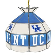Trademark Global University of Kentucky 16 Inch Handmade Tiffany Style Lamp, White (KY1600-2)