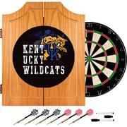 Trademark Global University of Kentucky Wildcats Dart Cabinet Set, Wood Smoke (KY7000-SMOKE)