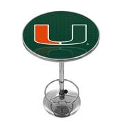 Trademark Global University of Miami Chrome Pub Table, Reflection (MIA2000-REF)