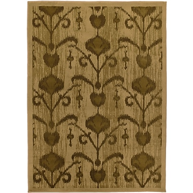 ECARPETGALLERY Ikat Vine Light Brown Abstract Area Rug; 5'5'' x 7'8''